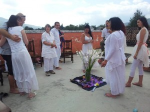 A rooftop meditation in Guatemala