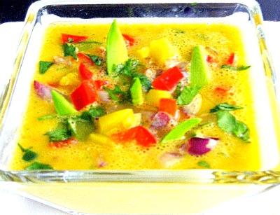 Delectable Mango-Avocado Gazpacho