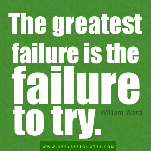 Failure Isn't Failure Until We Give Up